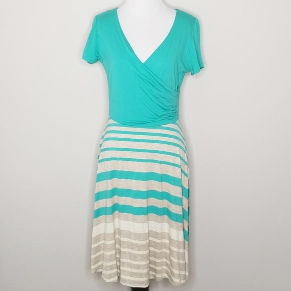 Gilli Dresses & Skirts - NWT Gilly | Joanna Teal Striped Dress | L